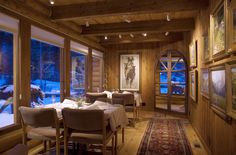 Our dining room gallery at Triple Creek Ranch