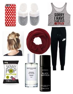 """Netflixs Friday"" by miaaking on Polyvore featuring NIKE, Victoria's Secret, Wyatt and Byredo"