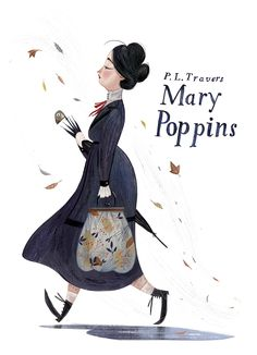Mary Poppins, illustration by Júlia Sardà Art And Illustration, Illustration Inspiration, Illustrations Posters, Disney Drawings, Childrens Books, Concept Art, Artsy, Sketches, Cartoon