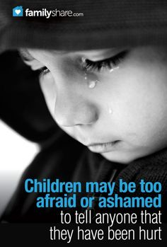 When to seek help: Signs that a child is being molested. Build trust with your child, so they will tell you if they are hurting.