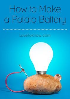 Think chemical energy is dull? Think again with this cool project that lets you turn a potato into a battery. The project is perfect for ages five and up, although younger children will need adult supervision and help to work with the nails and wires. | How to Make a Potato Battery from #LoveToKnow Cours Physique, Electricity Projects For Kids, Physics Projects, 6th Grade Science Projects, Biology Science Fair Projects, Electricity Experiments, Energy Projects, Science Projects For Kids, 5th Grade Science