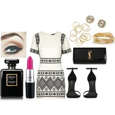 Sem título #295 by ericacarminatti on Polyvore featuring moda, Topshop, Yves Saint Laurent, The Limited, EF Collection and Chanel