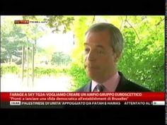Farage a SkyTG24 su Grillo - M5S - Europa