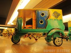 Handpainted Rickshaw from bombay electric