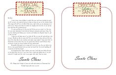 official letter from Santa printable: Lily & Thistle: Dear Santa, Some Merry Elves and Free Printables