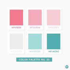 Color Palette No. 25 Color Palette No. Pastel Colour Palette, Colour Pallette, Color Palate, Colour Schemes, Color Combos, Color Patterns, Pink Palette, Pastel Colours, Pastel Pink