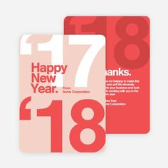 Bold Beginnings Corporate New Year Cards | Paper Culture