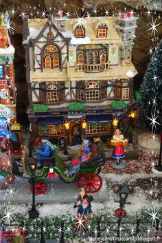 Lemax christmas village 2014. The wesley pub. Visit our christmas blog on audreychristmascarol.blogspot.fr #lemax #christmasvillage #wesleypub