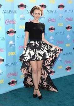 Teen Choice Adwards 2013 Alfombra Roja | Ella es Fashion - Lily Collins