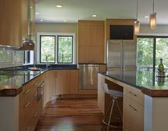 Neff Countertop Microwave : , bamboo cabinets, open floor plan, islands, SubZero Wolf appliances ...