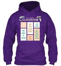 Limited Edition Classroom Tshirt/Hoodie Purple T-Shirt Front