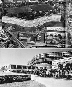 Conjunto Habitacional Pedregulho RJ - Revolucionou a arquitetura brasileira na época do Estado Novo e do modernismo