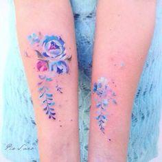 Watercolor Tattoos (12) #TattooIdeasWatercolor