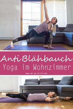 The 6 best yoga exercises against a bloated stomach - Fitness - Workout Fitness Workouts, Fitness Herausforderungen, At Home Workouts, Fitness Motivation, Fitness Games, Month Workout Challenge, Workout Schedule, Yoga Routine, Yoga Lifestyle