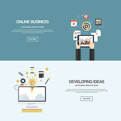Flat Banners on Behance