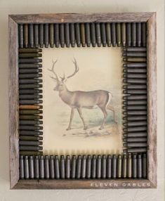 Eleven Gables: DIY Hunting Themed Rustic Frame and Deer Print Eleven Gables: DIY Hunting Themed Rustic Frame and Deer Print. Boys Hunting Room, Hunting Bedroom, Hunting Cabin, Archery Hunting, Deer Hunting, Coyote Hunting, Pheasant Hunting, Turkey Hunting, Hunting Themes