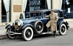 The Old Motor Debut – Welcome to the New Website: This colorized copy of a period photo of a 1929 Lincoln has been chosen to help us introduce you to the new website we just launched yesterday. Please stop by and take a test drive today at: http://theoldmotor.com/?p=126661