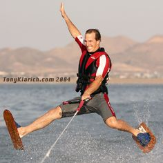 """Shoe Ski Daffy by Tony Klarich. From """"Every Water Skiing Ride Master List"""" http://www.waterskierslife.com/every-water-skiing-ride-photos-videos-history-and-more/ #waterski"""