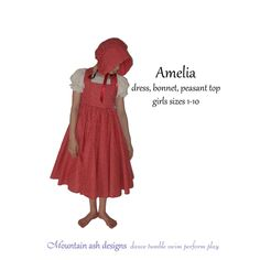 Amelia+pinafore+dress+peasant+top+and+bonnet