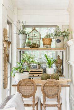 Every detail is perfection in this bright and airy Sunroom designed by Award Winning Interior Designer Sara Lynn Brennan of Waxhaw, NC, even the plants are thrilled with it! Transitional Fireplaces, Transitional Living Rooms, Transitional Decor, Bar Seating, Interior Decorating, Interior Design, Entertainment Room, Cozy House, Room Inspiration