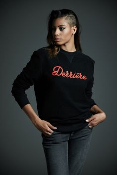 #Derriere fall/winter 2014 #dderriere #denim #jeans #Felpa #Sweat mod. #Black #RedLogo #Pantalone #Pant mod. #Regular col. #BlueBlack