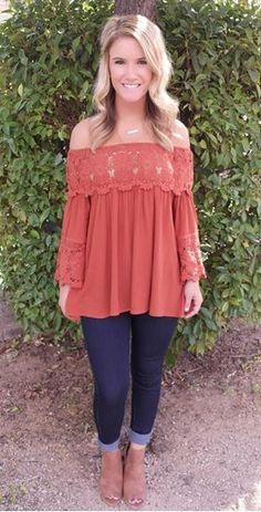 Picture of Harvest Knit Top (burnt orange)