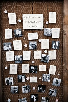 This DIY seating chart is both super sweet and simple to make. That's a win-win in our book! // Atelier Pictures