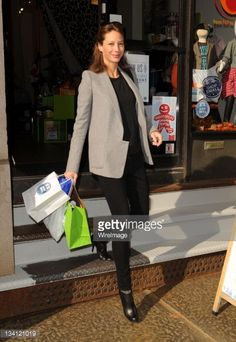 Christy Turlington at Torly Kid shops locally for Small Business Saturday founded by American Express on November 26, 2011 in New York City.