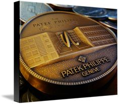 "Patek Philippe Geneve Commemorative Medal Coin $93 // Style: Black Edge Canvas Print; Size: Medium 16"" x 21"" // Visit http://www.imagekind.com/Patek-Philippe-Geneve-PPG_art?IMID=f3908c20-ea81-4cad-96a2-bcfab5a6a254 for product details."
