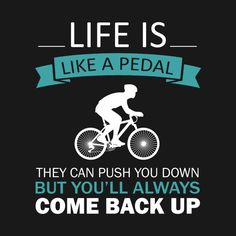 Check out this awesome 'life+is+a+pedal' design on Bike Quotes, Cycling Quotes, Cycling Art, Productivity Quotes, Spinning Workout, Cycling Motivation, Cycling Workout, Biker T Shirts, Cool Bicycles