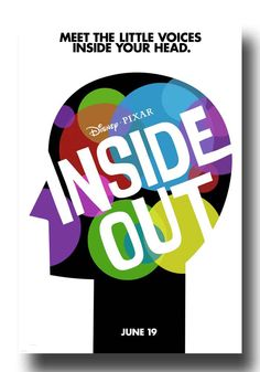 . #InsideOut #InsideOutPoster available at http://concertposter.org/inside-out-movie-promo-flyer-poster-pixar-disney-animated-film/