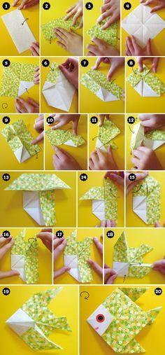 Les poissons d'avril origami