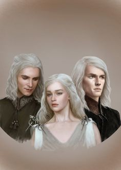 Mad King's Children by denkata5698 on deviantART, Viserys, Daenerys and Rhaegar Targaryen
