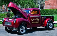 willys gasser drag trucks | gasser truck | Willys Truck-Panel-Delivery | Pinterest