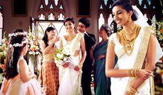 the white saree..