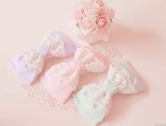 Lacey pastel bows