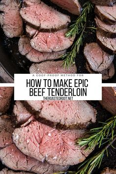 Beef Tenderloin Recipe - Everything you need to know about making PERFECT Beef Tenderloin - an easy goof-proof method for perfect tenderloin every time #recipe #healthy #beef #beeftenderloin #keto #paleo #glutenfree #ketorecipes Easy Beef Tenderloin Recipe, Perfect Beef Tenderloin, Healthy Beef Recipes, Rib Recipes, Healthy Eats, Yummy Recipes, Chicken Recipes, Dinner Recipes, Tacos And Burritos