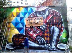 """Mural 'Welcome to the real Brazil""""- Bem-vindos ao Brasil verdadeiro - Eduardo Kobra #streetart"""