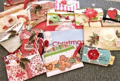 Made a bunch of Christmas gift pockets ...