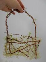 See-through sisal basket