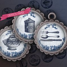 Kitchen Vintage retro Antique Printable Images for Pendants, Crafts, Bottle Caps #pendant