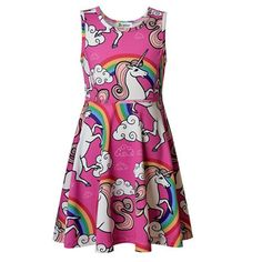 09f194ffdc54 Sleeveless Pink Unicorn Dress Unicorn Gifts