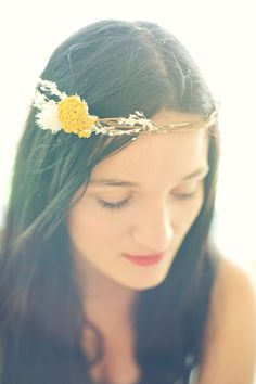 bfcd688d2adb Back In Stock- Fresh Summer Floral Natural Head Crown. via Etsy. White  Floral