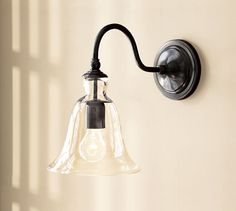 Rustic Glass Indoor/Outdoor Sconce | Pottery Barn