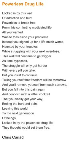 Poems About Drug Addicts 2