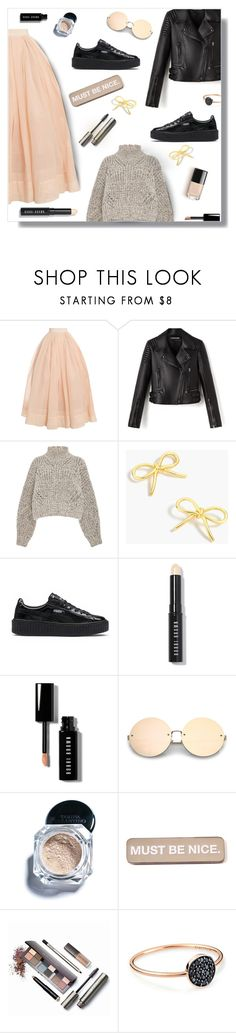 """Outfit Of The Day"" by peony-and-python ❤ liked on Polyvore featuring Martin Grant, Isabel Marant, J.Crew, Puma, Bobbi Brown Cosmetics, Tarina Tarantino, RIPNDIP, Laura Mercier and Ginette NY"