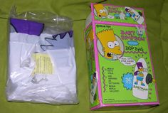 BART SIMPSON INFLATABLE BOP BAG BARTMAN THE SIMPSONS 1990 36 INCHES TALL #SIMPSONS