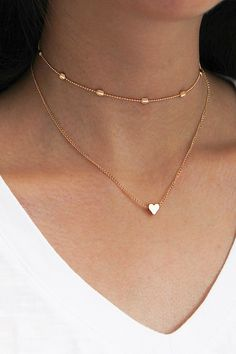 Jewelry OFF! Product Information Product Type: Choker Necklace Size: Adjustable 30 - 37 cm heart choker gold silver tiny chain Diy Jewelry Charms, Cute Jewelry, Charm Jewelry, Jewelry Bracelets, Jewelry Accessories, Statement Jewelry, Geek Jewelry, Gothic Jewelry, 14k Gold Initial Necklace