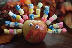 Festive Apple Turkey (great for fine motor)