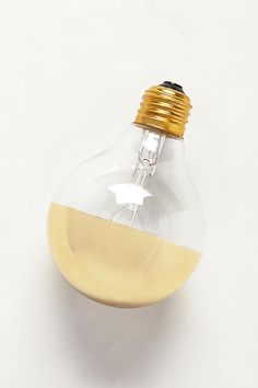 Half Gold Light Bulb - anthropologie.com